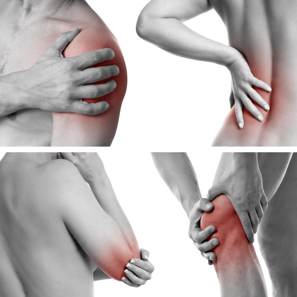 genunchii și umerii răniți
