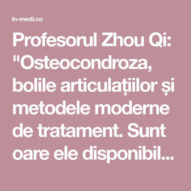 metode moderne de tratare a bolilor articulare recenzii ale tratamentului cu artroza degetelor