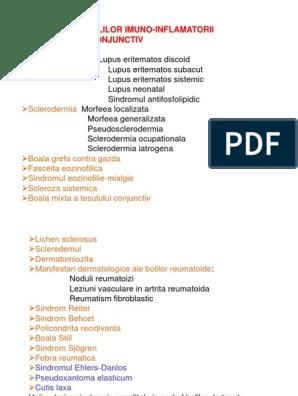clasificarea boala țesutului conjunctiv sistemic medicamente farmaceutice pentru întărirea articulațiilor